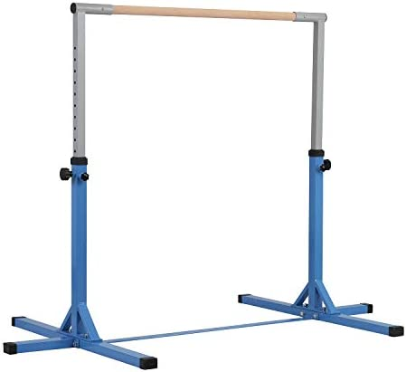 Wonlink Fitness Gymnastics Training Bar Adjustable 3 to 5 1.5 Dia. Solid Hardwood Height Adjustable Horizontal Bar Kids Junior Adult