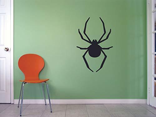 Spider Spiders Web Halloween Animal Wildlife Wall Sticker Art Decal for Girls Boys Room Bedroom Nursery Kindergarten Garage House Home Fun Decor Sticker Wall Art Vinyl Decoration Size (20x16 inch) -
