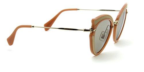 Miu Miu 05SS NOIR Womens Butterfly Sunglasses w/Silk Inserts (Light Brown, - Miu Miu Butterfly