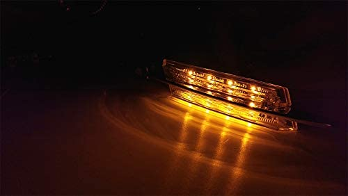 2 x M-Style Fender Crystal Amber LED Side Indicators