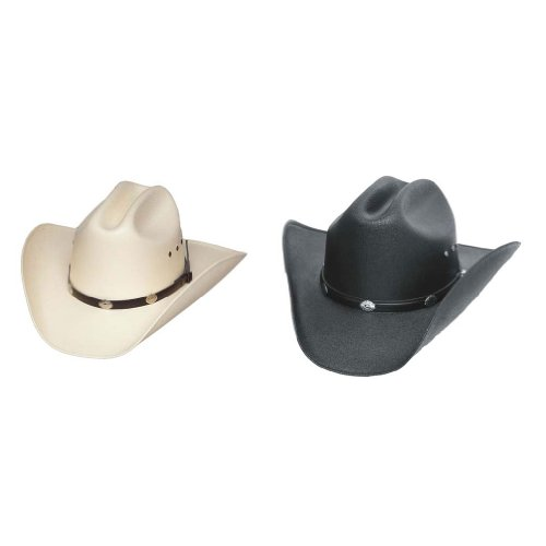 Classic Cattleman Straw Cowboy Hat Silver Conchos