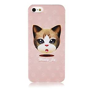 Cartoon Cat Pattern Silicone Soft Case for iPhone5/5s