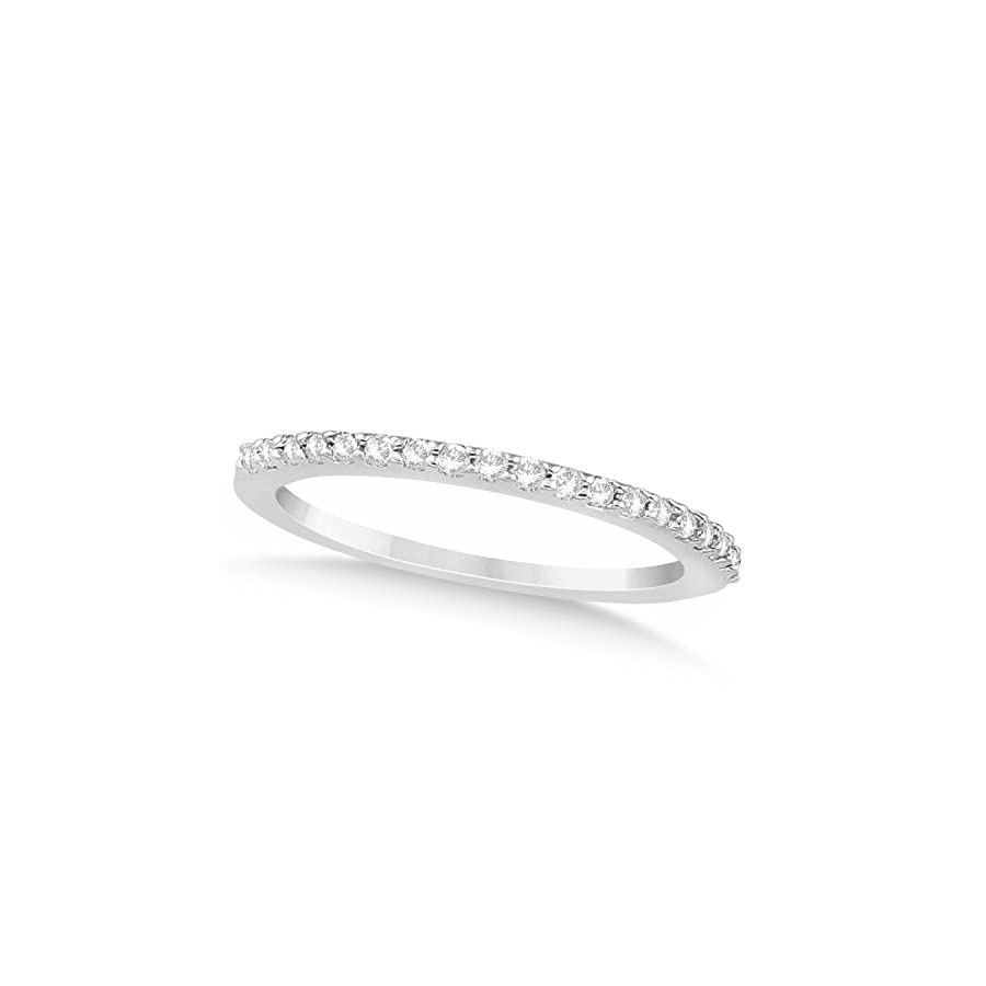 (0.19ct) Platinum Diamond Accented Wedding Band