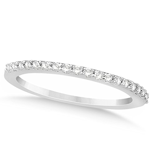 (0.19ct) Platinum Diamond Accented Wedding Band