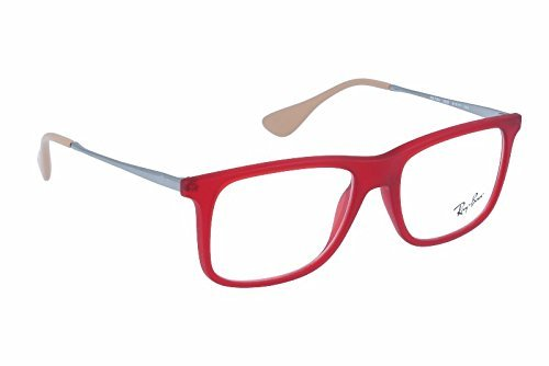 Ray-Ban RX7054 Lunettes en noir mat RX7054 5364 53 5525: Rubber Red