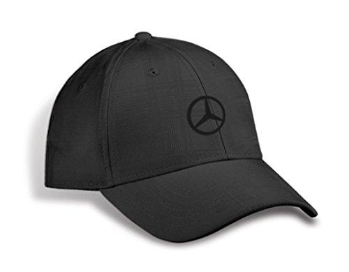 - Mercedes Benz Genuine Plaid Patterned Structured Baseball Cap Hat - Black, Adjustable
