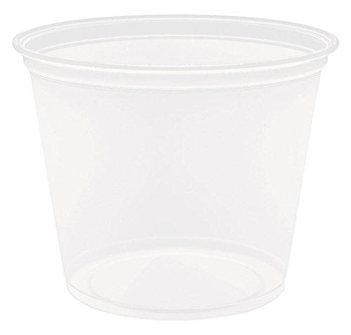 Dart 550PC 5.5 oz Clear PP Portion Container (Case of 2500)
