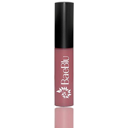 Best Organic 100% Natural Vegan Hydrating Antioxidant-Rich Lip Gloss, Made in USA by BaeBlu, No Way Rose