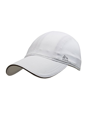 RBX Women's Runner's Baseball Cap, Moisture Wicking, Adjustable, White, one Size