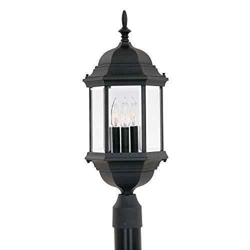 Black Energy Star Outdoor Post - Designers Fountain 2986-BK Devonshire Post Lanterns, Black