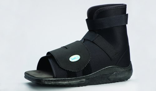SPECIAL PACK OF 3-Slimline Cast Boot Black Sq. Toe Extra-Small Adult by Marble Medical