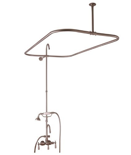 (Barclay 4143-48-CP Barclay Code Rectangular Shower Unit with Hand Shower for Cast Iron Tubs by Barclay)