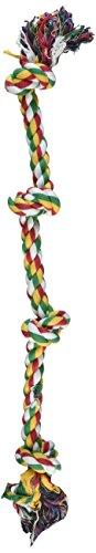 (Penn Plax 4-Knot Dog Rope Toy, Cold/Ruff, Medium)