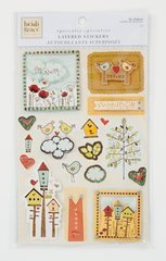 Heidi Grace Designs - Colorbok - Heidi Grace Designs - Tweet Memories Collection - Layered Stickers with Gem and Glitter Accents