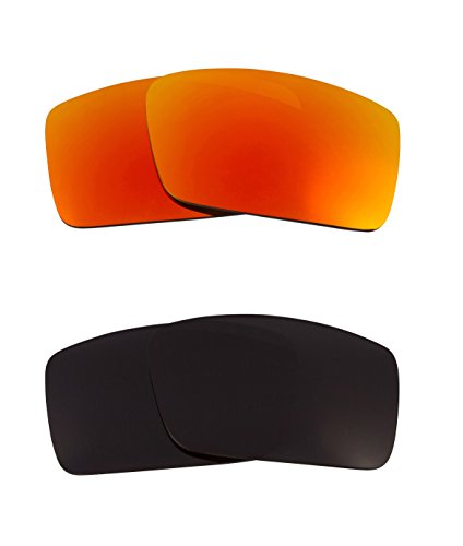 Best SEEK OPTICS Replacement Lenses Oakley GASCAN S - Black - Oakley Gascan Cheap Lenses