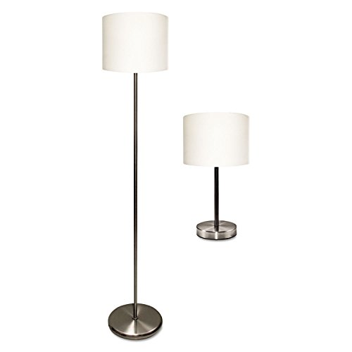 Ledu-Slim-Line-Lamp-Set-Table-12-58-High-and-Floor-61-12-High-SilverWhite