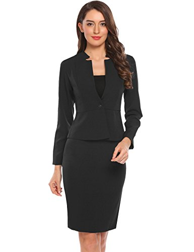 Womens 2 Piece Skirt Suit - 4