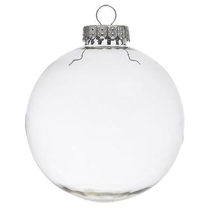 Amazon Com Clear Diy Plastic Globe Hanging 4 Inch Round Ornament
