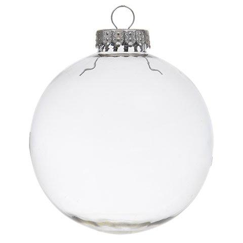 Clear Plastic Globe Hanging Ornament