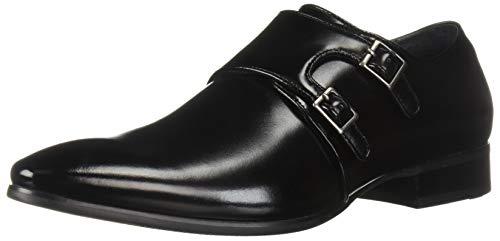 (STACY ADAMS Men's Vance Plain Toe Double Monk Strap Dress Loafer Black, 11.5 M US)
