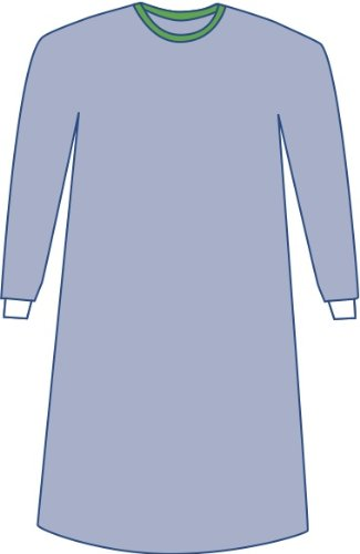 Medline DYNJP2004 Sterile Non-Reinforced Eclipse Surgical Gowns, 3X-Large, Blue (Pack of 18)