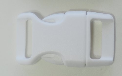 5/8'' Contoured Side Release Buckles for Paracord Bracelets Multiple Size and Quantity (white, 10 pack)