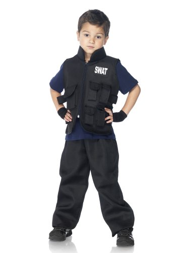 [SWAT Commander Kids Costume] (Swat Vest Costume)