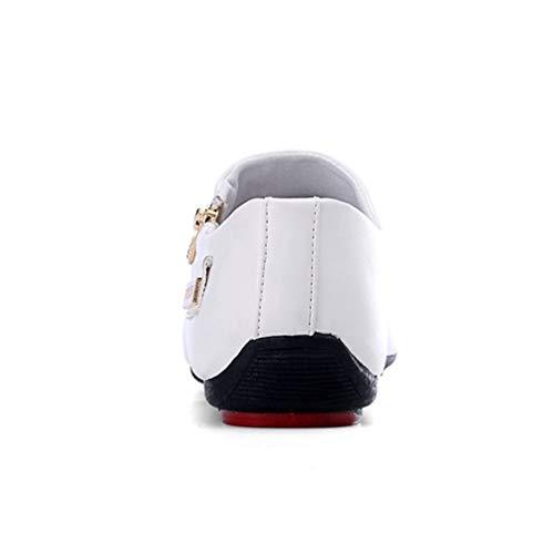 Shoes Mocassini Traspirante Maschio Mocassini Mens Qianliuk Bianco Casual Scarpe ITZIx1H