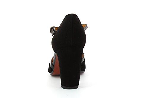 Para Tira Y Mujer Zapatos Negro Xalena Vertical Con Tacon Mihara Chie qC6xw8Y