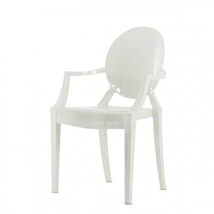 Sedia Kartell Louis Ghost - bianco lucido Philippe Starck, in ...