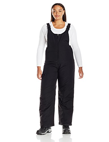 (White Sierra Women's Plus Size Toboggan Insulated Bib, Black, 1X)