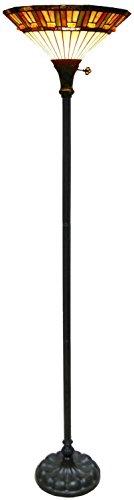 (Fine Art Lighting F1618 144 Glass Cuts Tiffany Torchiere Lamp, 16 x 72)