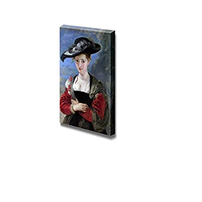 Portrait of Susanna Lunden by Peter Paul Rubens Famous Fine Art Reproduction World Famous Painting Replica on ped Print Wood Framed - Canvas Art Wall Art - 24