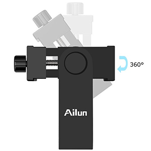 "AILUN Phone Tripod Holder Head Mount 1/4"" Screw Adapter,Rotatable Digtal Camera Bracket,Selfie Lens Monopod,Adjustable Ring Light,Compatible Camcorder iPhone X/XR/Xs Max,8/7/6/6s Plus,Galaxy S9+S8/S7"