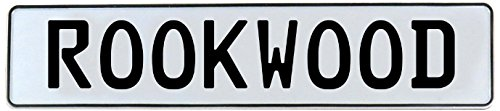 (Vintage Parts 737721 Rookwood White Stamped Aluminum Street Sign Mancave Wall Art)