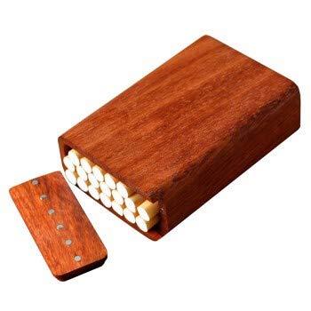 NACHEN Solid Wood Cigarette Box Wooden Cigarette Case Creative Carved Mahogany Gifts Cigarette Cases