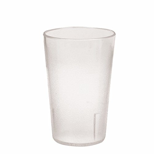 8 Ounce Room Tumbler (Plastic Tumblers, Shatter Proof Cups, For Restaurant, Lunchroom, Cafeteria, Bar - Pack of 12 (8 oz, Clear))