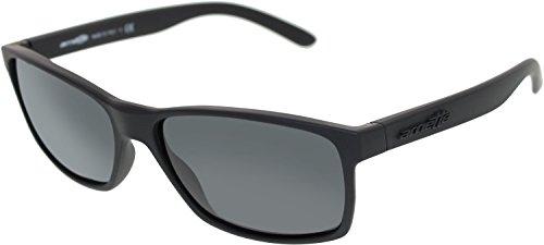 Arnette Slickster AN4185-02 Wayfarer Sunglasses,Fuzzy Black/Grey,59 - Arnette Sunglasses Case
