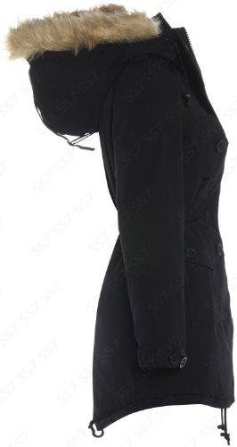 longues Clothing Manches Parka Blouson Noir SS7 Uni Femme Noir ZARxq