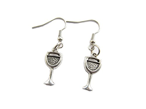 Ancient Silver Wine earrings Personalized Wine earrings Wine Drinker Gift Wino earrings Wine Lover