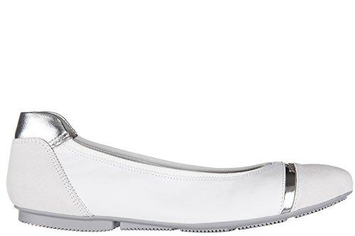 Hogan ballerines femme en cuir neuves wrap 144 blanc