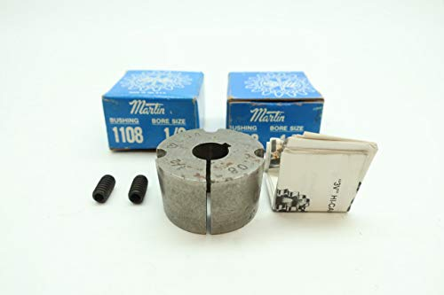 LOT of 2 MARTIN 1108 Taper-Lock Bushing 1/2IN D646601