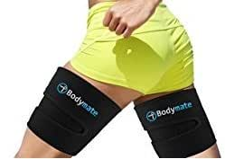 Bodymate Thigh Trimmers/Slimmers | Includes 2 premium Shapers Workout Enhancer Belt/Wrap Muscle Toning Leg support Fat Burning Body Weight loss Women & Men