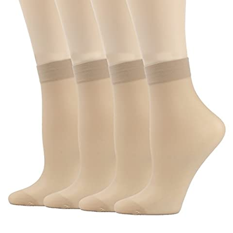 Tight Socks, INCHER Support Pantyhose Ankle High Tights Hosiery Tights Socks Women's 4 Pairs (Ankle High Hose)