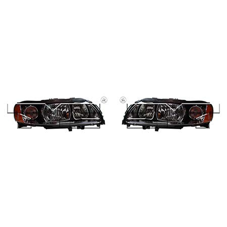 CarLights360: Fits 2005 2006 2007 2008 2009 Volvo S60 Headlight Assembly Driver and Passenger Side NSF Certified w/Bulbs Halogen Type - Replaces VO2502120 VO2503120 (Headlight Headlight Volvo S60)