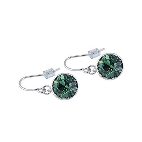 Swarovski Crystal Peridot Ring (UPSERA Drop Dangle Earrings Made with Swarovski Crystals - Hypoallergenic Jewelry for Women Girls)