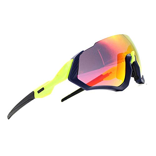 2018 New Cycling Sunglasses kit 3LS Revo + Polarized + Transparent (Green)