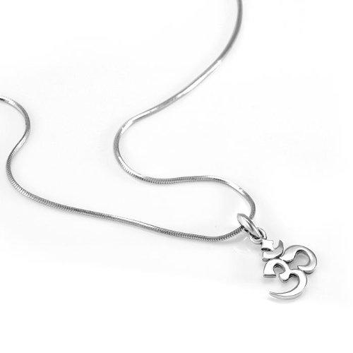 925 sterling silver yoga aum om ohm sanskrit yogi pendant 925 sterling silver yoga aum om ohm sanskrit yogi pendant necklace 18 inches amazon aloadofball Image collections