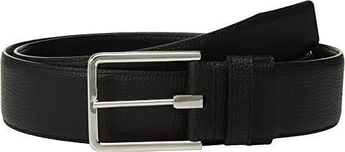 Tumi Leather Belt - TUMI - Textured Leather Reversible Belt for Men - Size 36 - Black