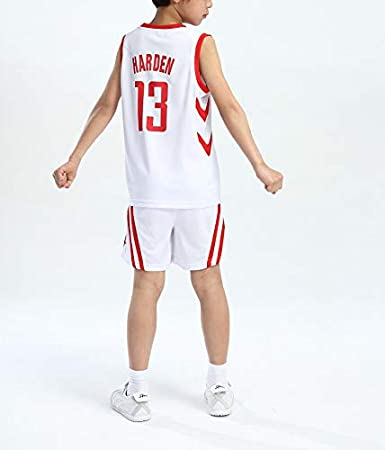 FILWS Basketball Jersey James Harden Childrens Basketball Uniform Set Childrens Game Training Appearance Jersey